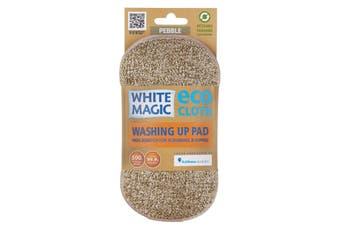 White Magic Microfibre Washing Up Pad Pebble