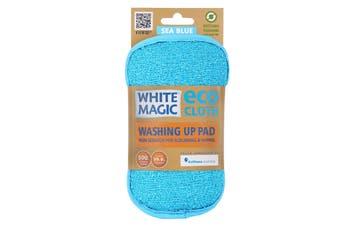 White Magic Microfibre Washing Up Pad Sea Blue