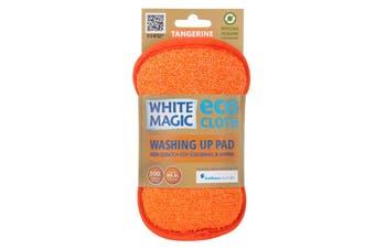 White Magic Microfibre Washing Up Pad Tangerine