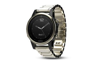 Garmin Fenix 5S Champagne Sapphire Multisport GPS Watch 42mm Case Metal Band