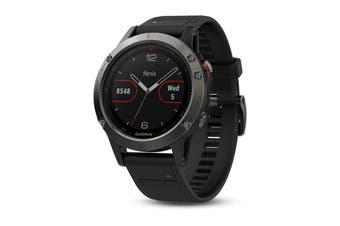 Garmin Fenix 5 Multisport GPS Watch 47mm Case Slate Grey Band