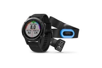 Garmin Fenix 5 Black Sapphire Multisport GPS Watch 47mm Case (Performer Bundle)