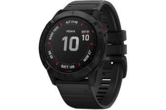 GARMIN fenix 6X Pro Multisport GPS Watch Black with Black Band
