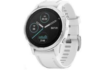 GARMIN fenix 6S Multisport GPS Watch Multisport GPS Watch White with White Band