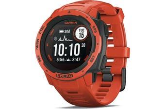 Garmin Instinct Solar GPS Sport Watch Flame Red