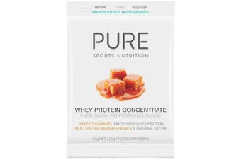 PURE Whey Protein Concentrate Honey Salted Caramel 30g Sachet