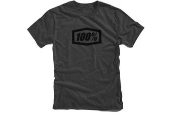 100% Essential T-Shirt Charcoal/Black 2019