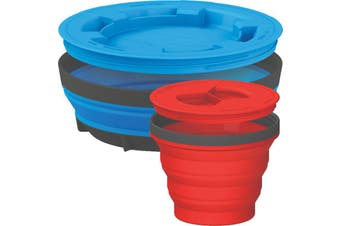 Sea To Summit X-Seal & Go Kit Collapsible Containers Blue/Red
