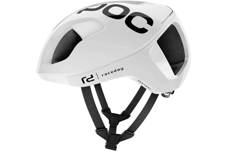 POC Ventral Spin Road Bike Helmet Hydrogen White Raceday