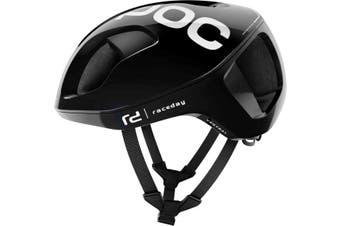 POC Ventral Spin Road Bike Helmet Uranium Black Raceday