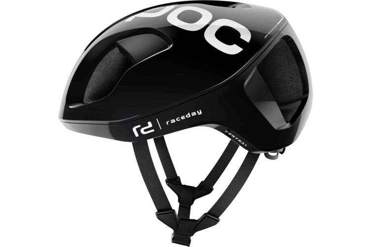 POC Ventral Spin Road Bike Helmet Uranium Black Raceday