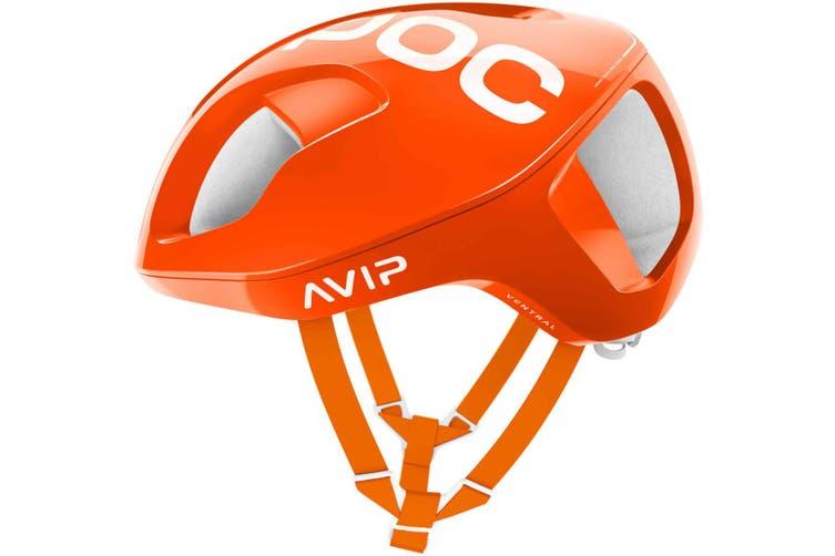 POC Ventral Spin Road Bike Helmet AVIP Zink Orange