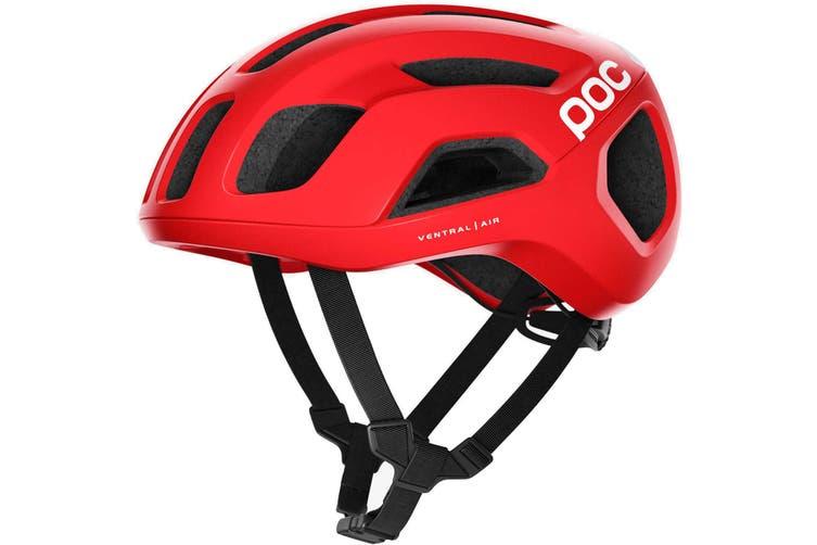 POC Ventral Air SPIN Road Bike Helmet Prismane Red Matte