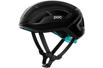 POC Omne Air SPIN Road Bike Helmet Uranium Black/Kalkopyrit Blue Matte