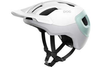 POC Axion SPIN MTB Bike Helmet Hydrogen White/Apophyllite Green Matte