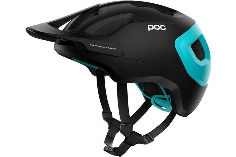 POC Axion SPIN MTB Bike Helmet Uranium Black/Kalkopyrit Blue Matte