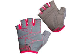 Pearl Izumi Select Fingerless Womens Bike Gloves Turbulence Grey/Pink 2020