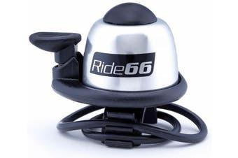 Ride66 Loud Bicycle Bike Bell Silver