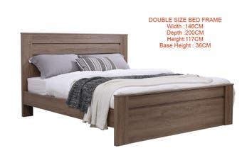 Jason Wooden Bed Frame -Dark Oak