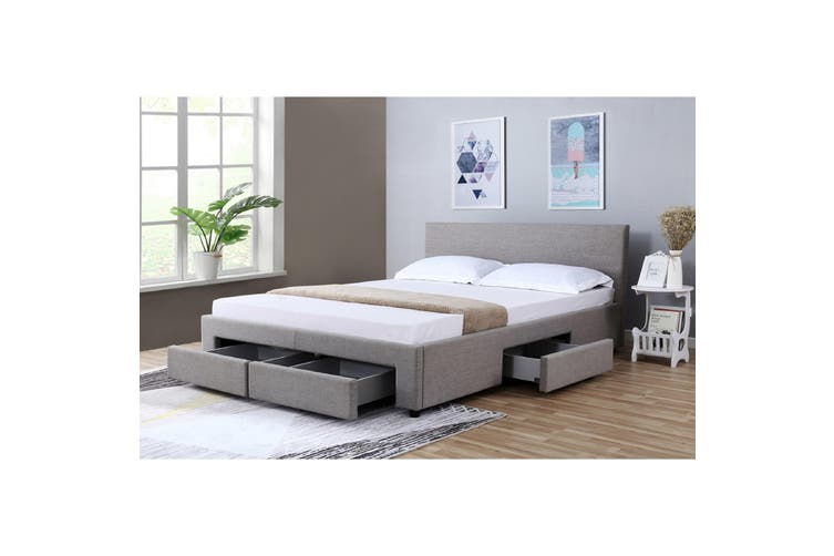 Nicole Double Bed with Drawers