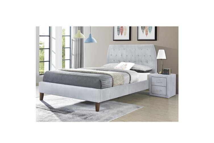 Angela Queen Velvet fabric bedframe