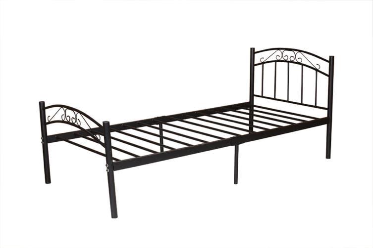 Cleveland  Bed Frame - Black-King single