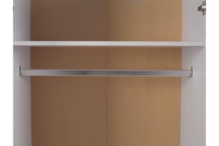 Redfern 4 Door 2 Drawer with Mirror - White