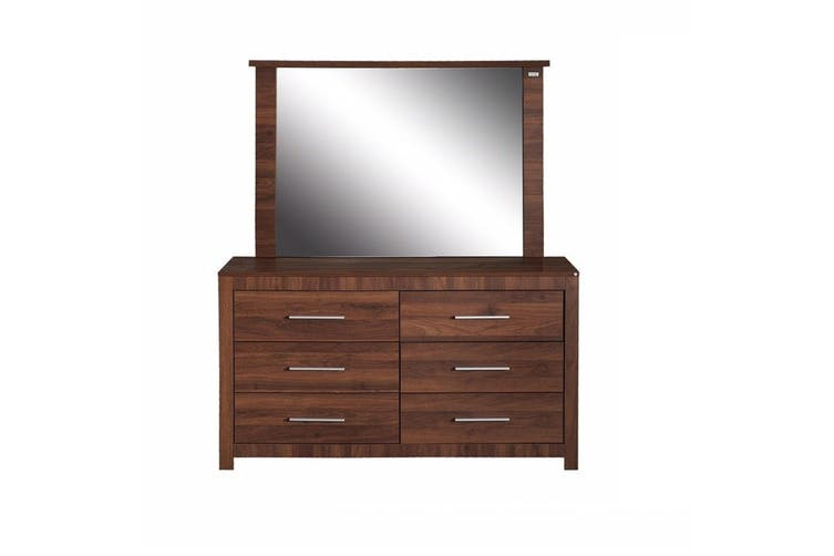 Jason Dresser/Lowboy With Mirror- Walnut