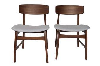 Junny Dinning Chair - Upholstery:Light Grey-Pair
