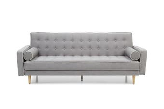 Sofia sofa bed SP068 - Grey (with contrast piping)