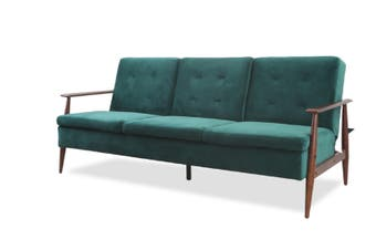LindyTimber arm Sofa Bed-Green