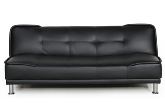 Lucas Leatherette Sofa Bed - Black