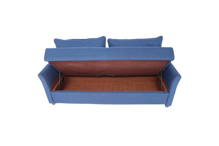 Manly 3 Seater Sofa Fabric - Blue