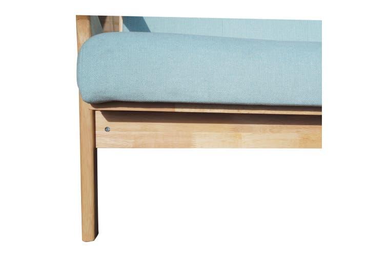 Bismark 3 Seater-Natural Oak/Mint
