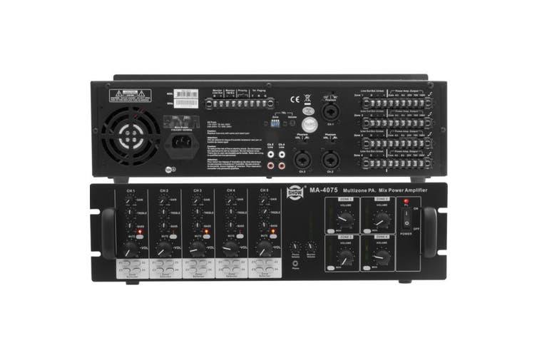 MA4075 SHOW Multiplex Amplifier 5Ch Inputs 4 Zone Selector  4X Independent Channels  MULTIPLEX AMPLIFIER