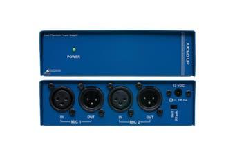 JUICEDUP AUSTRALIAN MONITOR Dual Phantom Power Supply Australian Monitor  Operates Via the Supplied External Power Supply or Two On-Board 9 Volt Batteries  DUAL PHANTOM POWER SUPPLY