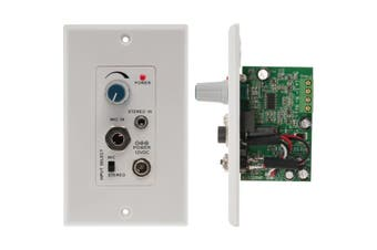 PRO1328WP Pro2 Audio Amplifier Wall Plate Microphone and Stereo Class D  Decora-Style Wall Plate Design  AUDIO AMPLIFIER WALL PLATE