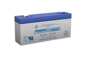 PS630 POWER SONIC 6V 3.5 Amp Sla Battery F1 Terminal Sealed Lead Acid    6V 3.5 AMP SLA BATTERY