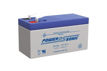 PS1212 POWER SONIC 12V 1.4Amp Sla Battery F1 Terminal Sealed Lead Acid  Size:96 X 52 X 43 Weight:540G  96 x 52 x 43 Weight:540g