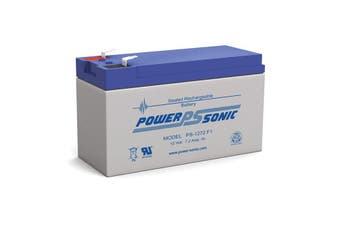 PS1280 POWER SONIC 8Ah 12V Sla Battery F2 Terminal Sealed Lead Acid  Size:151 X 94 X 65 Weight:2.18Kg  151 x 94 x 65 Weight:2.18kg