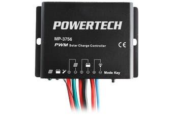MP3756 POWERTECH 12V 24V 10A Solar Controller Timer  High Efficient Pwm Charging  12V 24V 10A SOLAR CONTROLLER