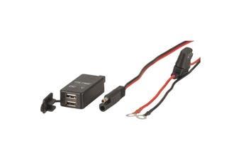 PS2013 POWERTECH 12V 24V DC Dual USB Charger Volt Display  LED Voltage Display  12 24VDC DUAL USB CHARGER