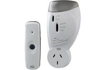 D641/PIFL HPM 70M 240V Wireless Door Chime With Flashing Light  240V Door Chime  70M 240V WIRELESS DOOR CHIME