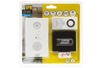 D642/L1 HPM Battery Wireless Door Chime With LED Flashing Indicator  LED Flashing Light With or Without Chime  BATTERY WIRELESS DOOR CHIME