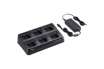 BC214 iCom 6 Way Rapid Charger Ic41pro Includes Bc157s & 6X Ad130    6 WAY RAPID CHARGER IC41PRO