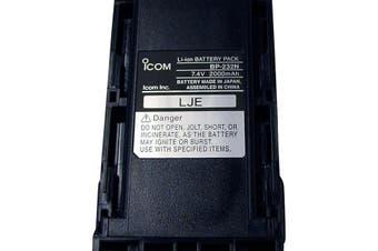 BP232H iCom 7.4V 2300Ma Spare Battery Pack Li-Ion Suits Ic41s iCom  Li-Ion 7.4V 2300Mah (Typical Capacity), 2250Mah (Minimum Value)  7.4V 2300MA SPARE BATTERY PACK
