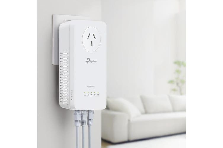 WPA8630P TP-LINK Ac1350 Powerline Extender Giga Power Pass Through  Ac1350 � Dual Band Wi-Fi With Combined Speeds of Up To 1350Mbps  AC1350 POWERLINE EXTENDER