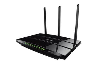 ARCHERC7 TP-LINK Ac1750 Wireless Gigabit Router Dual Band  Simultaneous 2.4Ghz 450Mbps and 5Ghz 1,300Mbps Connections For 1.75Gbps of Total Available Bandwidth  AC1750 WIRELESS GIGABIT ROUTER