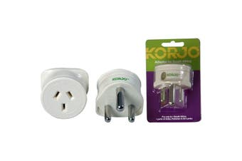 KASI KORJO Aust. To South Africa Adaptor For Australia 240V Plug- Fit22  For Use With Australian/Nz Appliances Overseas  AUST. TO SOUTH AFRICA ADAPTOR