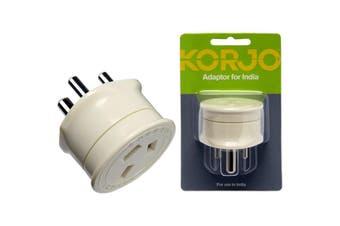 KAIN KORJO Aust. To India Travel Adaptor For Australia 240V Plug- Fit26  For Use With Australian/Nz Appliances Overseas  AUST. TO INDIA TRAVEL ADAPTOR